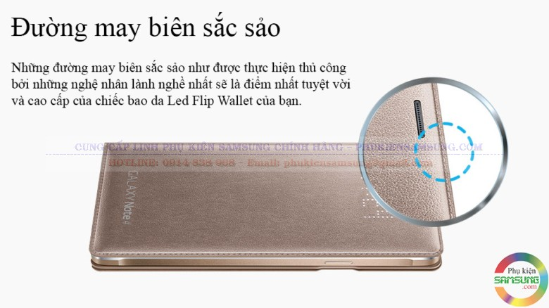 bao da Flip Wallet Galaxy Note 4