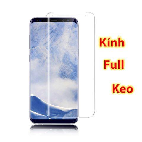 Kính cường lực Galaxy S8 full keo kết hợp chiếu đèn UV