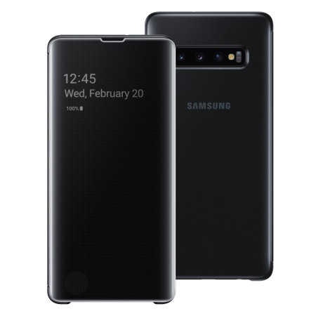 Bao da Clear view Galaxy S10 Plus chính hãng